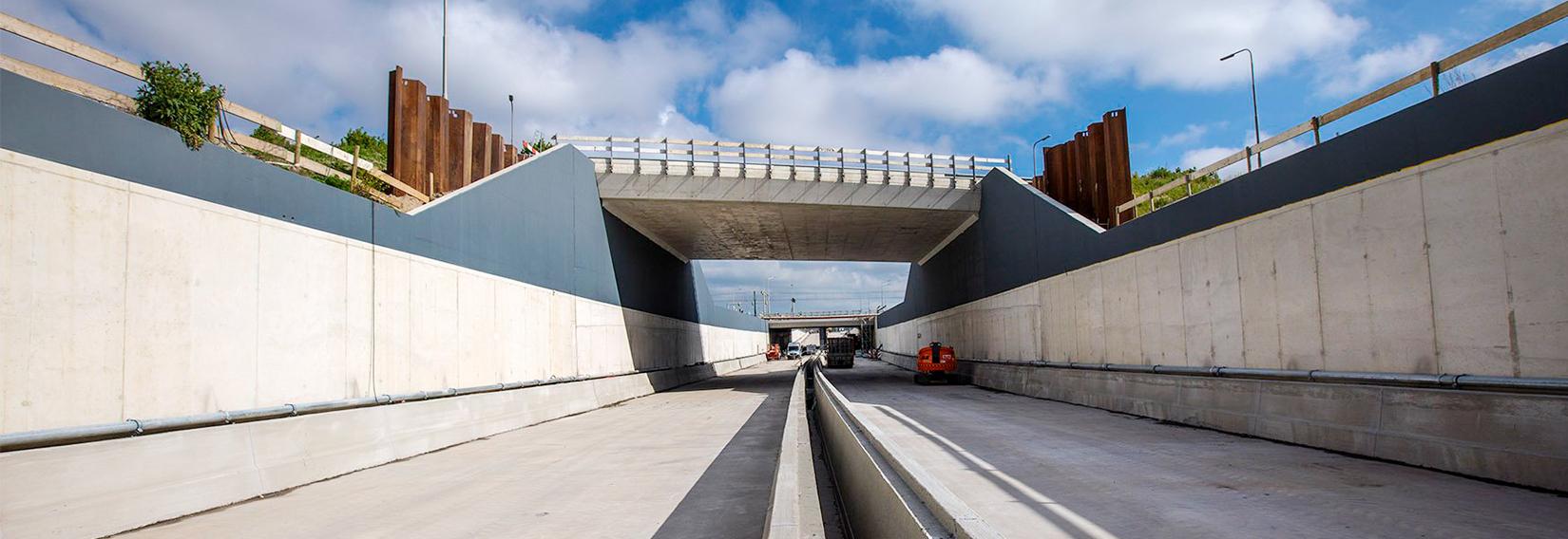 beton coating op kleur tunnel
