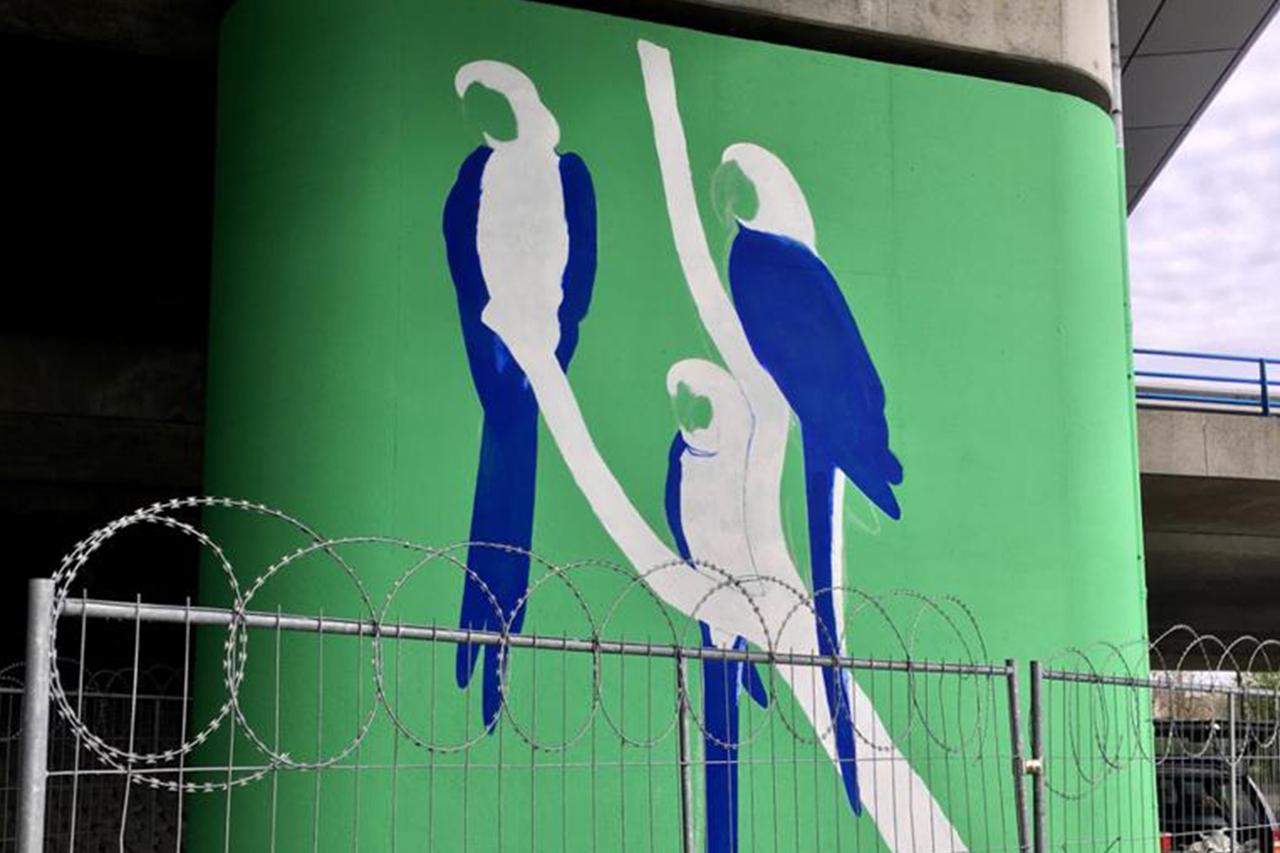 Anti graffiti muurschildering beton